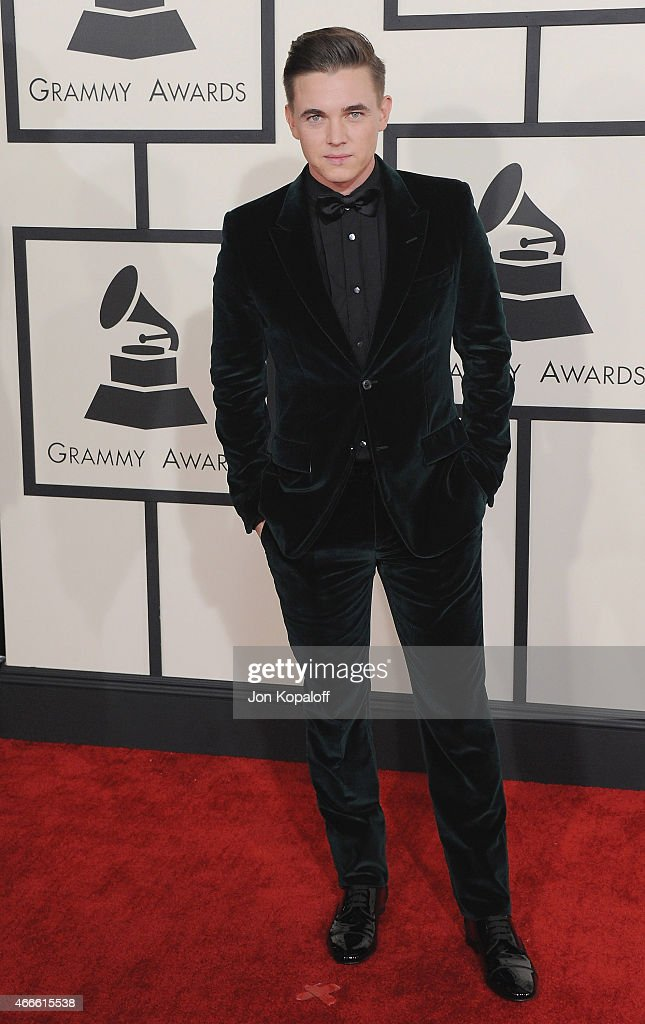Jesse McCartney arrives at the 57th GRAMMY Awards at Staples Center on February 8, 2015 in Los Angeles, California.