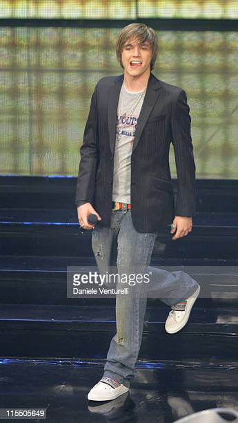 Jesse McCartney during 56th San Remo Music Festival - Day 2 at Ariston Theatre in San Remo, Italy.