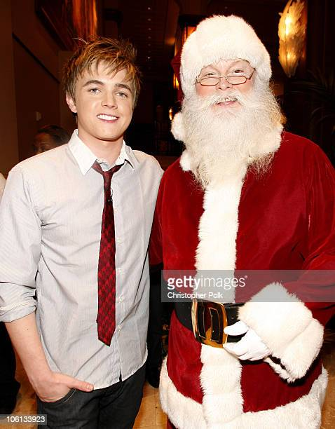 Jesse McCartney during Hollywood Christmas Celebration From The Grove Backstage at The Grove in Los Angeles California United States