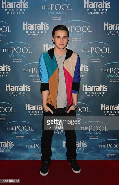 Jesse McCartney performs at The Pool After Dark at Harrahs Resort on Saturday August 9 2014 in Atlantic City New Jersey