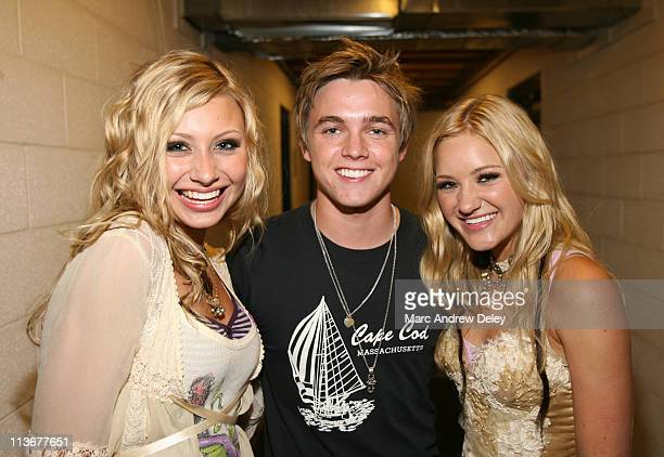 Jesse McCartney with Aly and AJ during Jesse McCartney At New York State Fair August 26 2006 at New York State Fair in Syracuse New York United States
