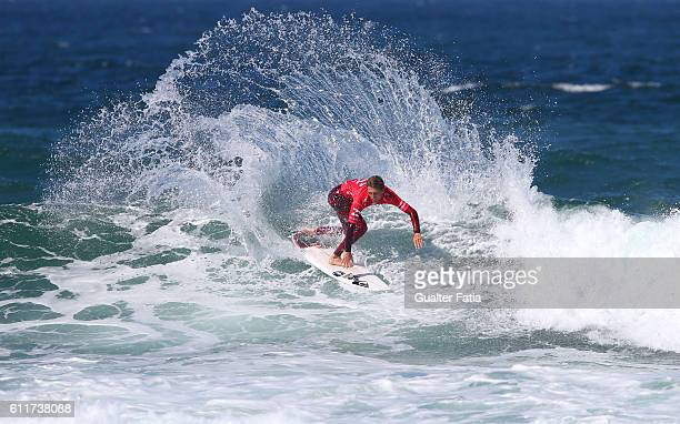 Jesse Mendes from Brazil in action during the Final of the Billabong Pro Cascais of Surfing at Praia do Guincho on October 1 2016 in Cascais Portugal