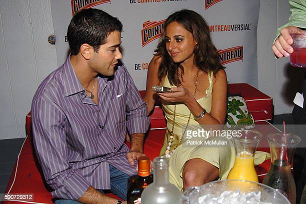 Jesse Metcalfe and Alyssa Shelasky attend Vogue and Cointreau Cocktail Party hosted by Jesse Metcalfe at Star Room on July 16 2005 in Wainscott NY