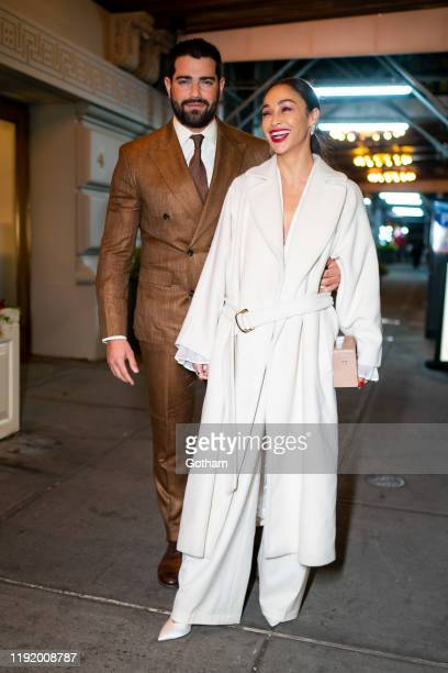 Jesse Metcalfe and Cara Santana are seen attending the 14th Women of Worth Awards at the Pierre Hotel in Midtown on December 04 2019 in New York City