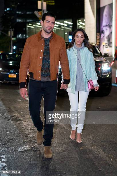 Jesse Metcalfe and Cara Santana are seen in Midtown on October 16 2018 in New York City