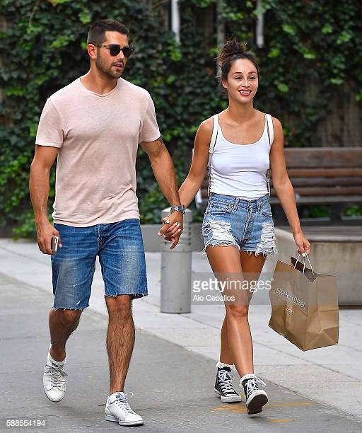Jesse Metcalfe and Cara Santana are seen in Soho August 11 2016 in New York City