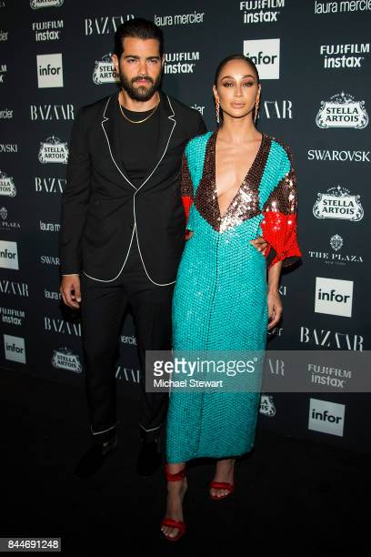 Jesse Metcalfe and Cara Santana attend 2017 Harper's Bazaar Icons at The Plaza Hotel on September 8 2017 in New York City