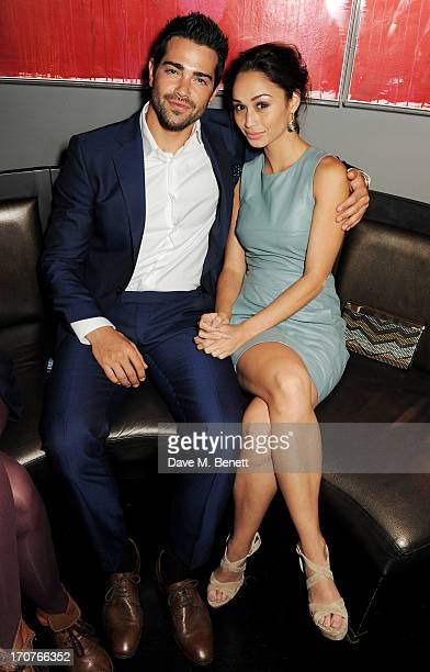 Jesse Metcalfe and Cara Santana attend a DETAILS Magazine Cocktail Party To Celebrate London Collections Men hosted by Dan Peres at Mortons on June...
