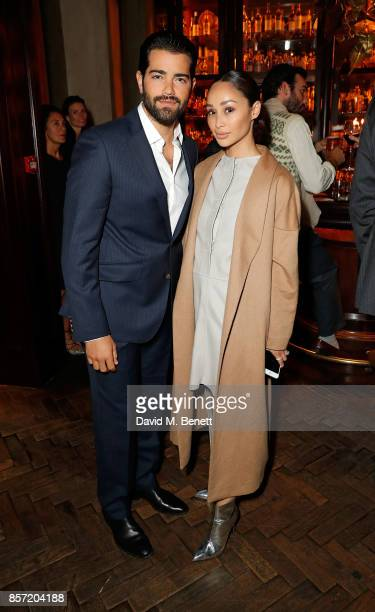 Jesse Metcalfe and Cara Santana attend the MS Tailoring Talk on October 3 2017 in London England