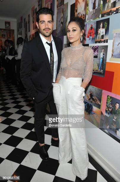 Jesse Metcalfe and Cara Santana attend W Magazine's Celebration of its 'Best Performances' Portfolio and the Golden Globes with Audi Dior and Dom...