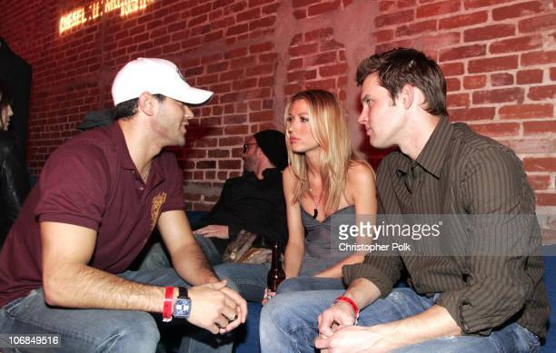 Jesse Metcalfe and friends during DieselUMusic 2005 Launch Event at Ivar in Hollywood CA United States