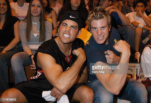 Jesse Metcalfe and Greg Siff during Hollywood Knights Charity Basketball Game Burbank at Burbank High School in Burbank California United States
