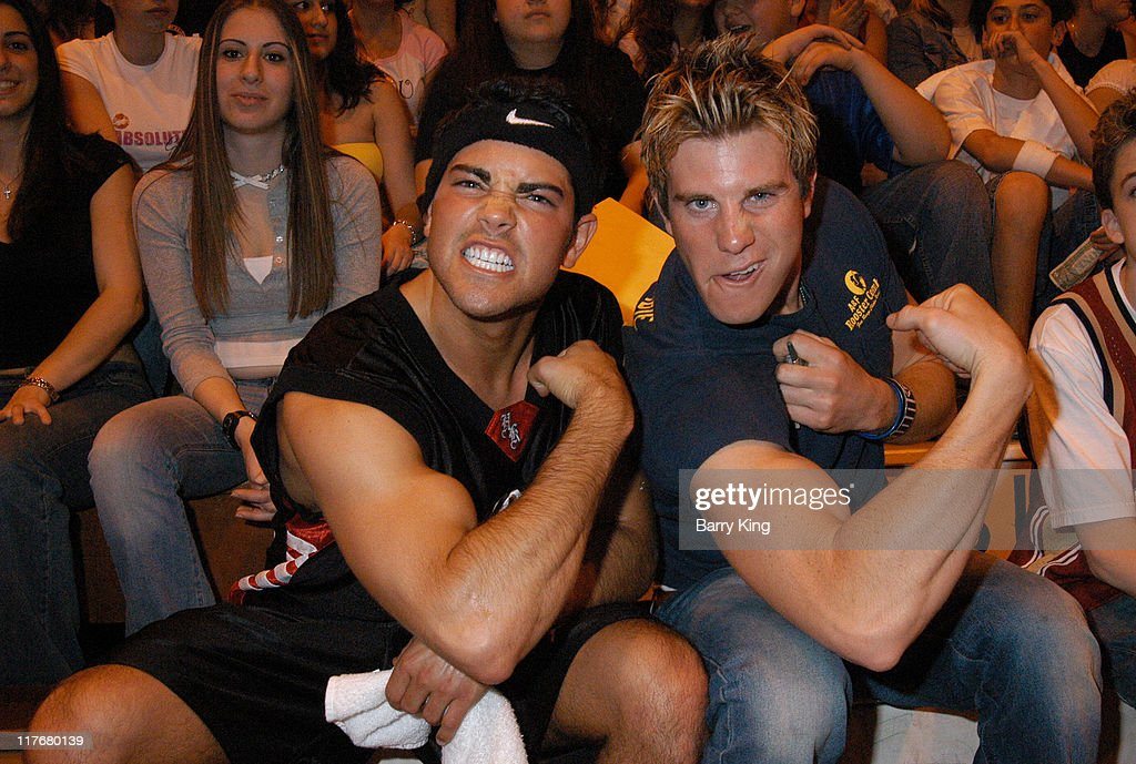 Jesse Metcalfe and Greg Siff during Hollywood Knights Charity Basketball Game - Burbank at Burbank High School in Burbank, California, United States.