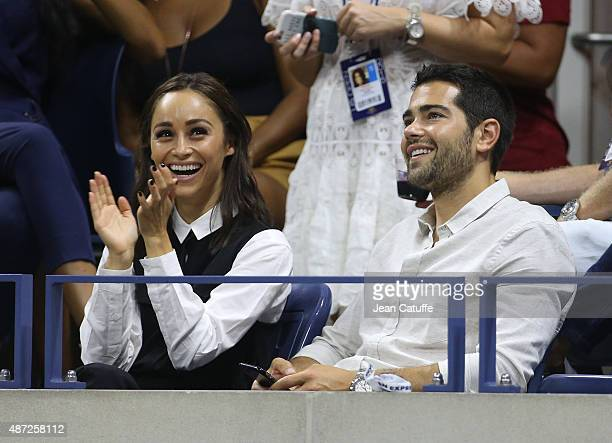 Jesse Metcalfe and his girlfriend Cara Santana attend day eight of the 2015 US Open at USTA Billie Jean King National Tennis Center on September 7...