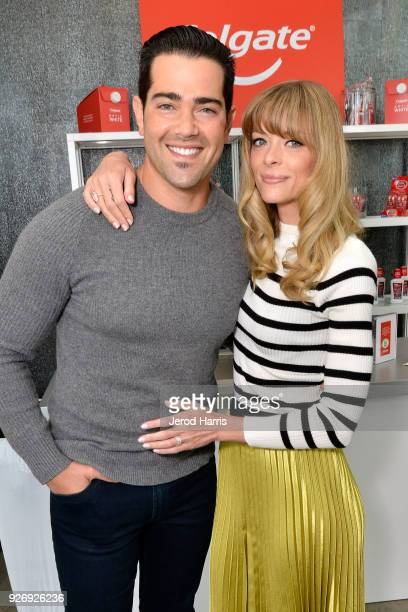 Jesse Metcalfe and Jaime King were among the celebrities in attendance at the Colgate¨ Optic White¨ Beauty Lab on March 3 2018 in Los Angeles...