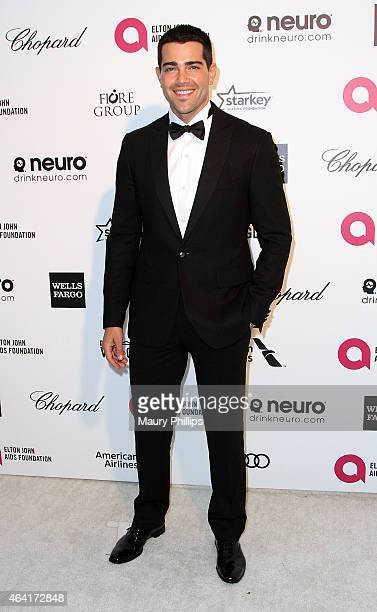 Jesse Metcalfe arrives at the 23rd Annual Elton John AIDS Foundation Academy Awards viewing party at The City of West Hollywood Park on February 22...