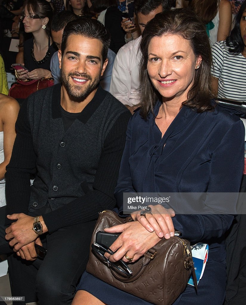 Jesse Metcalfe (L) attends the BCBGMAXAZRIA Spring 2014 fashion show at The Theatre Lincoln Center on September 5, 2013 in New York City.