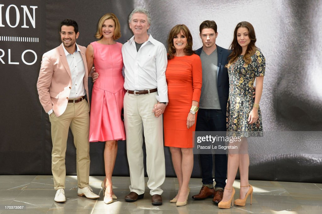 Jesse Metcalfe, Brenda Strong, Patrick Duffy, Linda Gray, Josh Henderson and Julie Gonzalo pose at a photocall during the 53rd Monte Carlo TV Festival on June 12, 2013 in Monte-Carlo, Monaco.