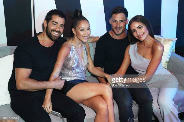Jesse Metcalfe Cara Santana Danny Amendola and Olivia Culpo attend the W Las Vegas Grand Opening Celebration on March 31 2017 in Las Vegas Nevada
