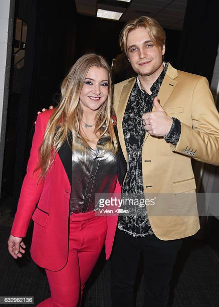 Jesse Money and Desmond Money attend the iHeart80s Party 2017 at SAP Center on January 28 2017 in San Jose California