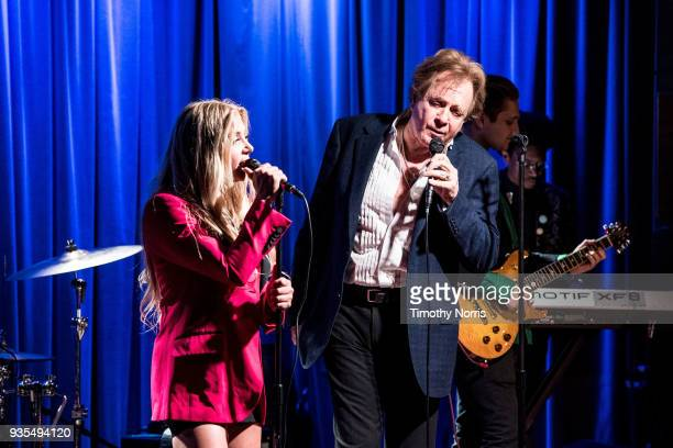 Jesse Money and Eddie Money perform during An Evening With Eddie Money at The GRAMMY Museum on March 20 2018 in Los Angeles California