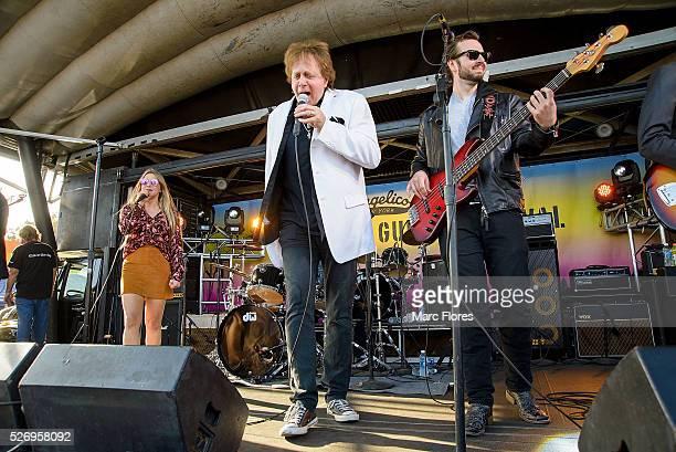 Jesse Money and Eddie Moneyperforms on stage at Malibu Guitar Festival at Malibu Village on April 30 2016 in Malibu California