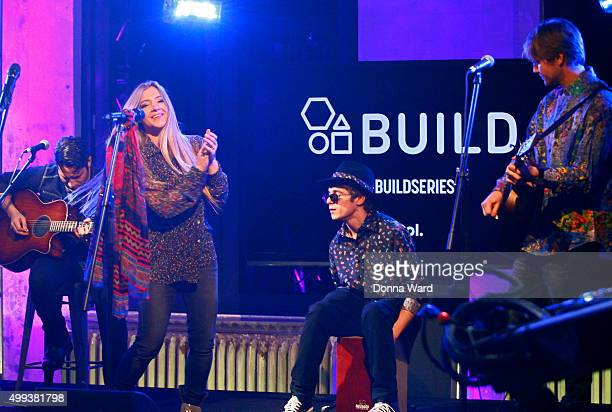 Jesse Money, Julian Money and Desmond Money appear to promote family tour during the AOL BUILD Series at AOL Studios In New York on November 30, 2015...