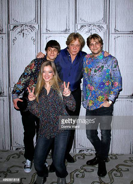 Jesse Money, Julian Money Eddie Money and Desmond Money appear to promote family tour during the AOL BUILD Series at AOL Studios In New York on...