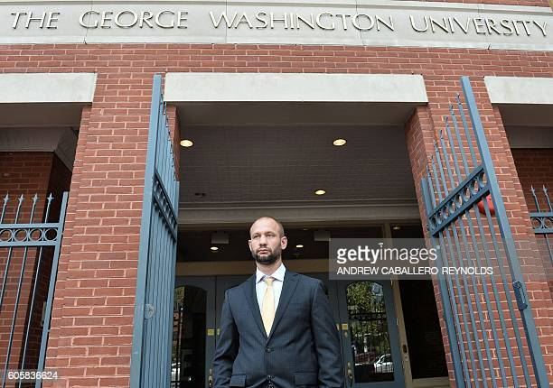 Jesse Morton a reformed former extremist who was once a prominent radicalizer in the West is seen at The George Washington University in Washington...