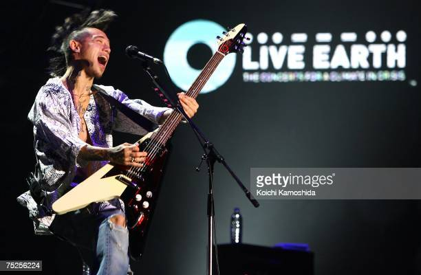 Jesse of Rize peforms at the Tokyo leg of the Live Earth series of concerts, at Makuhari Messe, Chiba on July 7, 2007 in Tokyo, Japan. Launched by...