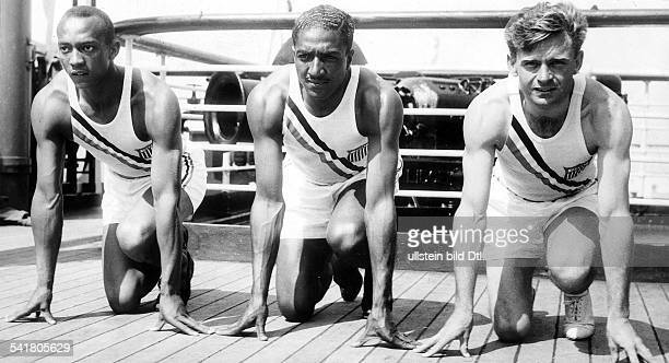 Jesse Owens *USAmerican track and field athletewon 4 gold medals at the Summer Olympics in Berlin in 1936Voyage of the USAmerican Olympic team on the...