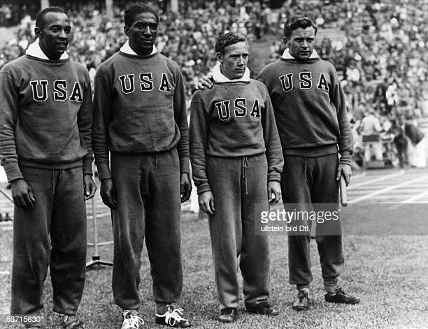Jesse Owens USAmerican track and field athlete won 4 gold medals at the Summer Olympics in Berlin in 1936 Summer Olympics in Berlin in August 1936...