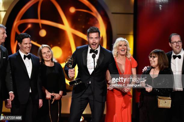 Jesse Palmer accepts the Outstanding Entertainment News Program award for 'DailyMailTV onstage at the 46th annual Daytime Emmy Awards at Pasadena...