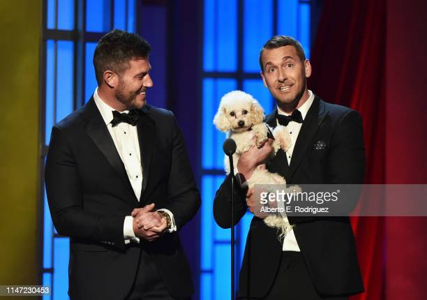 Jesse Palmer and Brandon McMillan speak onstage at the 46th annual Daytime Emmy Awards at Pasadena Civic Center on May 05 2019 in Pasadena California
