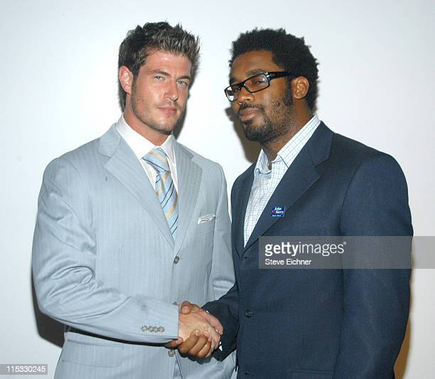 Jesse Palmer and Dhani Jones during John Kerry Fundraiser at the Home of Eric Villency cohosted by Eric Podwall and Eric Villency June 28 2004 at...