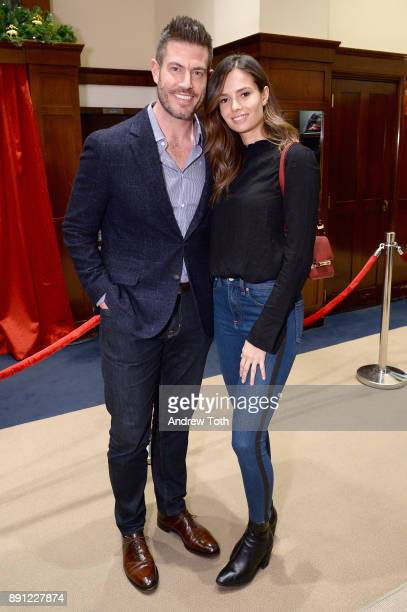 Jesse Palmer and Emely Fardo attend as Brooks Brothers celebrates the holidays with St Jude Children's Research Hospital on December 12 2017 in New...