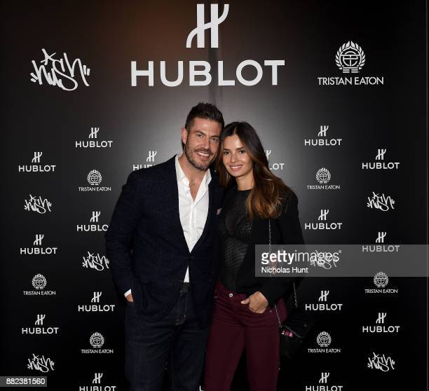 Jesse Palmer and Emely Fardo attend as Hublot launches Fame v Fortune Timepieces with Street Artists Tristan Eaton and Hush at Lightbox Studios on...