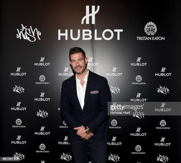 Jesse Palmer attends as Hublot launches Fame v Fortune Timepieces with Street Artists Tristan Eaton and Hush at Lightbox Studios on November 29 2017...