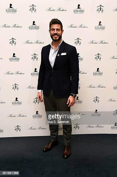 Jesse Palmer attends Brooks Brothers holiday celebration with St Jude Children's Research Hospital Brooks Brothers Madison Avenue Flagship on...