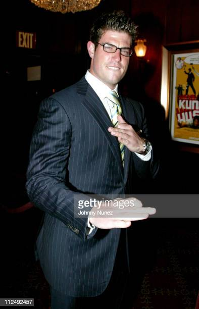 Jesse Palmer during Kung Fu Hustle New York City Premiere at Zeigfeld Theater in New York City New York United States