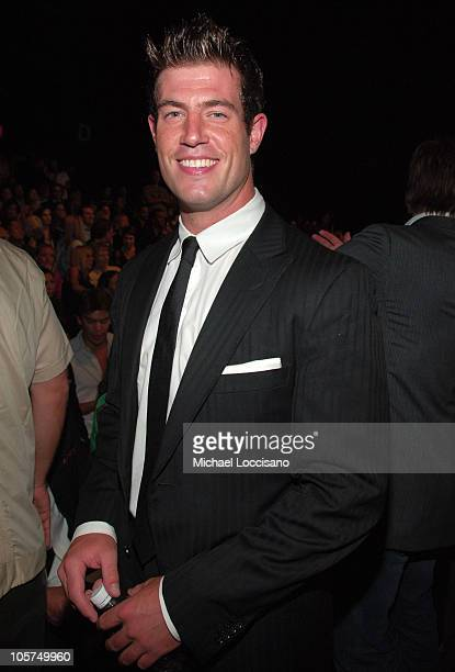 Jesse Palmer during Olympus Fashion Week Spring 2006 Tommy Hilfiger at Bryant Park in New York City New York United States