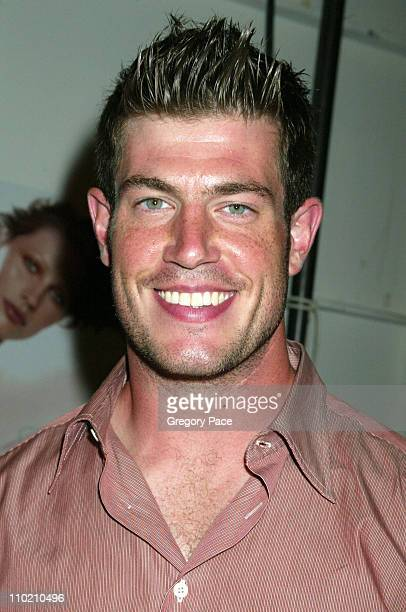 Jesse Palmer of The Bachelor during Olympus Fashion Week Spring 2005 Ghost Backstage at Plaza Tent Bryant Park in New York City New York United States