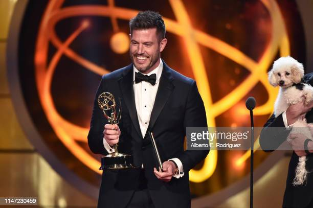 Jesse Palmer speaks onstage at the 46th annual Daytime Emmy Awards at Pasadena Civic Center on May 05 2019 in Pasadena California