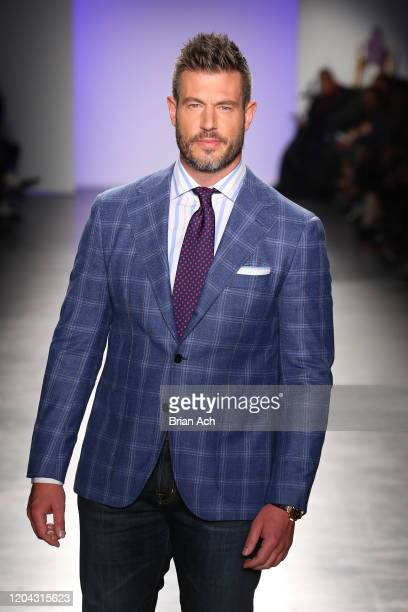 Jesse Palmer walks the runway at The Blue Jacket Fashion Show during NYFW at Pier 59 Studios on February 05 2020 in New York City