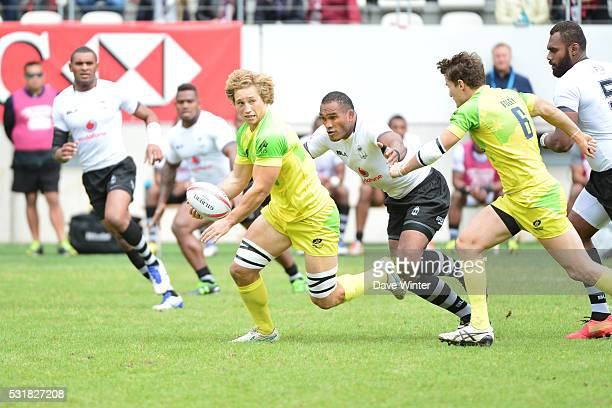 Jesse Parahi of Australia during the HSBC PARIS SEVENS tournament at Stade Jean Bouin on May 15 2016 in Paris France