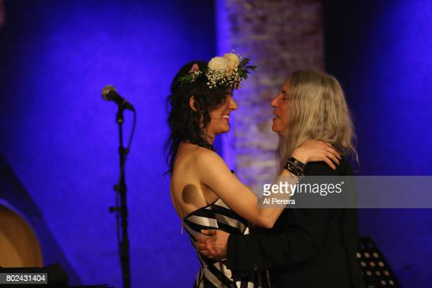 Jesse Paris Smith and Patti Smith perform at Jesse Paris Smith's 30th Birthday Celebration at City Winery on June 27 2017 in New York City