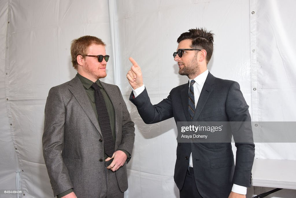 Jesse Plemons and Adam Scott during the 2017 Film Independent Spirit Awards at the Santa Monica Pier on February 25, 2017 in Santa Monica, California.