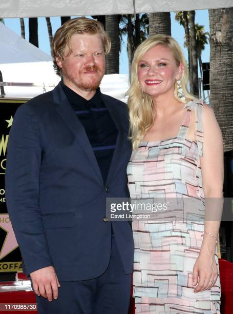 Jesse Plemons and Kirsten Dunst attend as Kirsten Dunst is honored with a Star on the Hollywood Walk of Fame on August 29 2019 in Hollywood California
