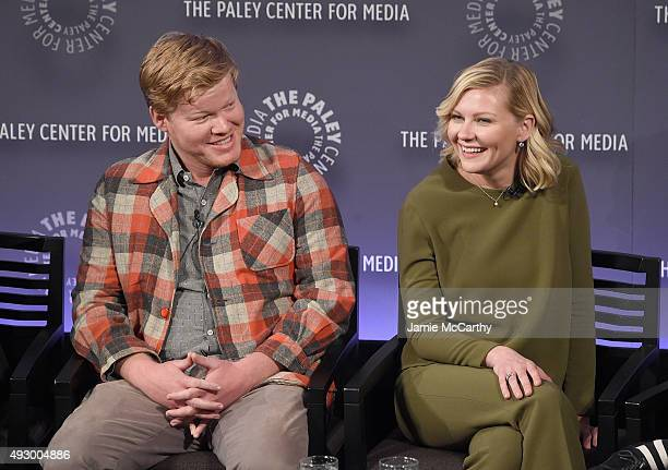 Jesse Plemons and Kirsten Dunst attend PaleyFest New York 2015 'Fargo' at The Paley Center for Media on October 16 2015 in New York City