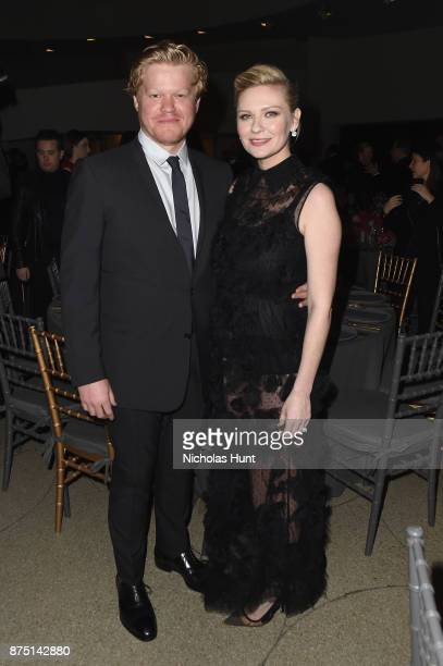 Jesse Plemons and Kirsten Dunst attend the 2017 Guggenheim International Gala made possible by Dior on November 16 2017 in New York City
